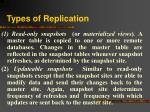 types of replication