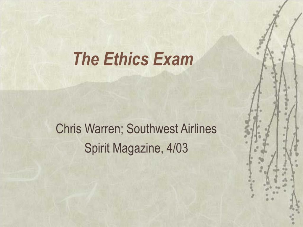 the ethics exam l.