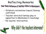 reflecting remarks