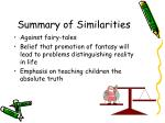 summary of similarities
