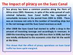 the impact of piracy on the suez canal