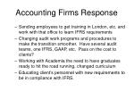accounting firms response