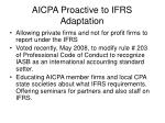 aicpa proactive to ifrs adaptation