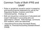 common traits of both ifrs and gaap