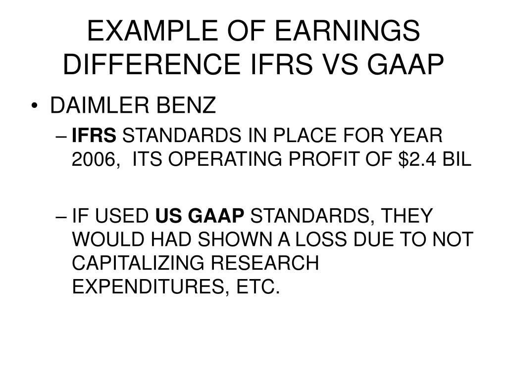 international financial reporting standards and earnings