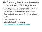 ifac survey results on economic growth with ifrs adaptation
