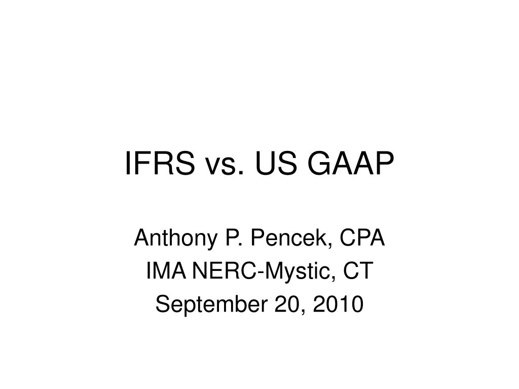 ifrs vs us gaap l.