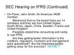 sec hearing on ifrs continued