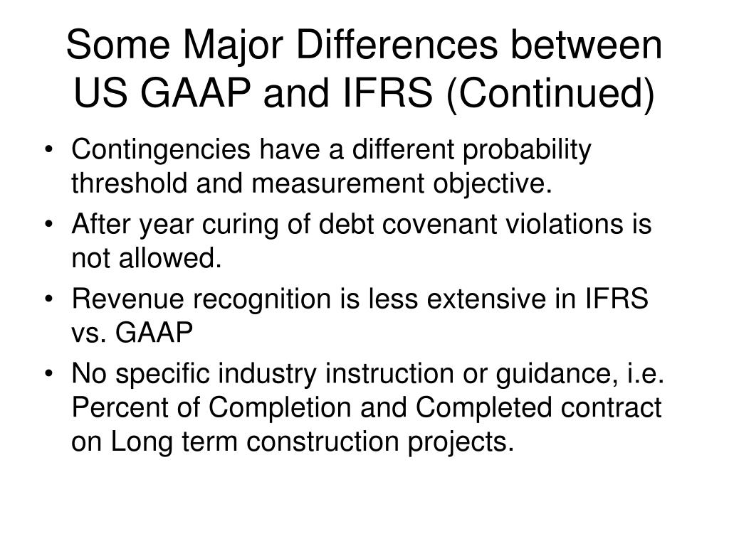 us gaap and ifrs difference in