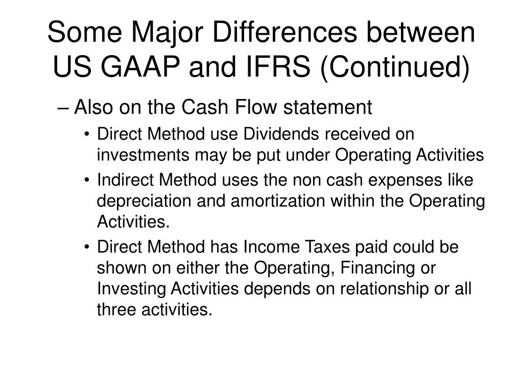 ifrs us and prc gaap
