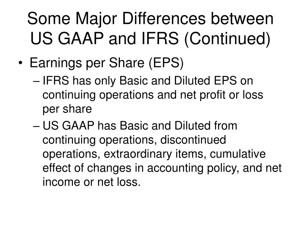 major differences between us gaap and ifrs essay
