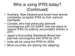 who is using ifrs today continued