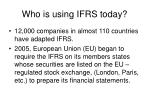 who is using ifrs today