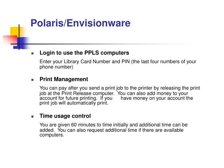 Polaris envisionware