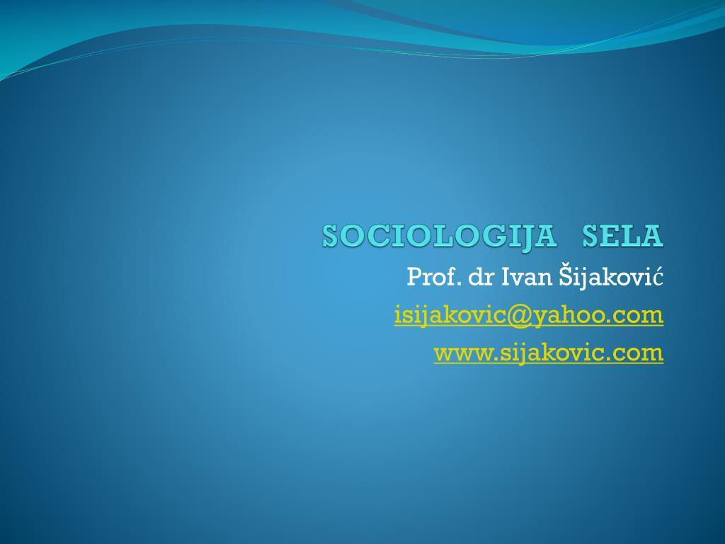 sociologija sela l.