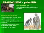 prapovijest paleolitik