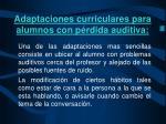 adaptaciones curriculares para alumnos con p rdida auditiva