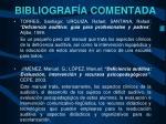 bibliograf a comentada