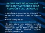 p gina web relacionada con los trastornos de la audici n y del lenguaje