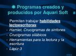 programas creados y producidos por aquari soft