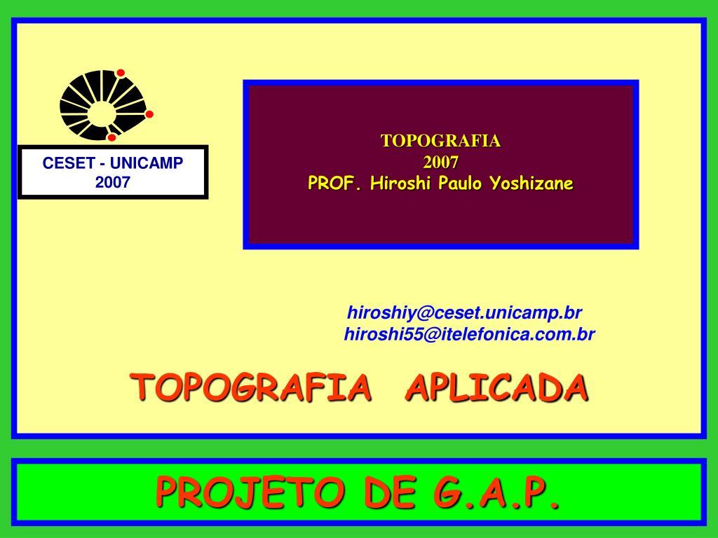 projeto de g a p l.