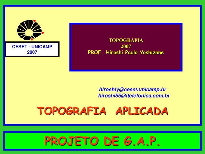 projeto de g a p n.
