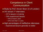 competence in client communication