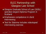 elcc partnership with glasgow law school