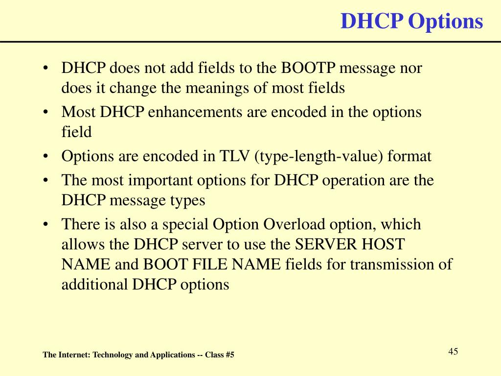 DHCP Options