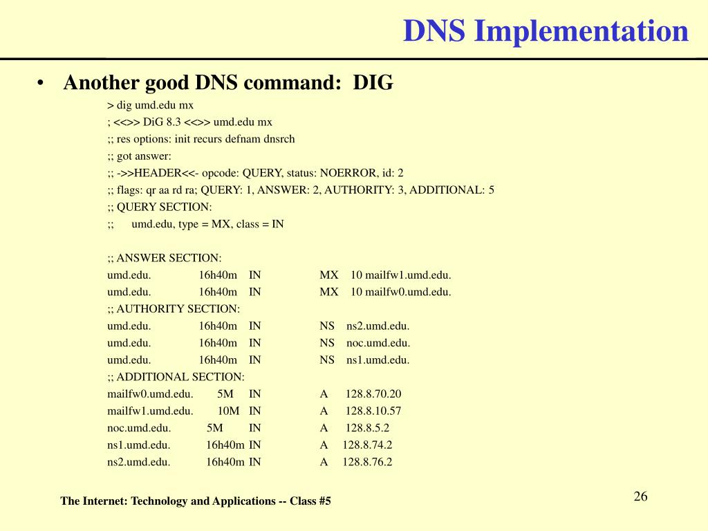 DNS Implementation