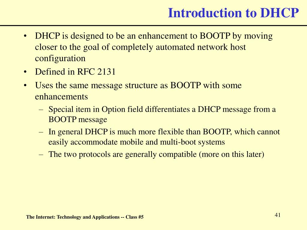 Introduction to DHCP