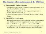 the structure of domain names the dns tree7