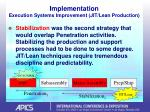 implementation execution systems improvement jit lean production