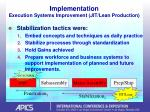 implementation execution systems improvement jit lean production29