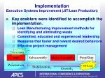implementation execution systems improvement jit lean production31
