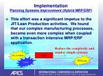 implementation planning systems improvement hybrid mrp erp20