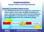 implementation success factors and project elements36