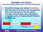 strategies and tactics execution systems improvement jit lean production24