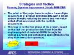strategies and tactics planning systems improvement hybrid mrp erp18