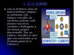 1 alcanos