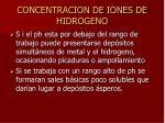 concentracion de iones de hidrogeno