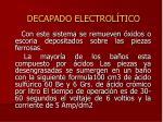 decapado electrol tico