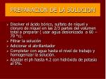 preparacion de la solucion56