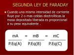 segunda ley de faraday