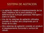 sistema de agitacion