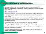 applications of watermarking