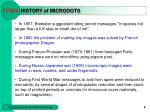 history of microdots
