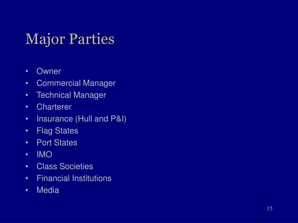 Major Parties