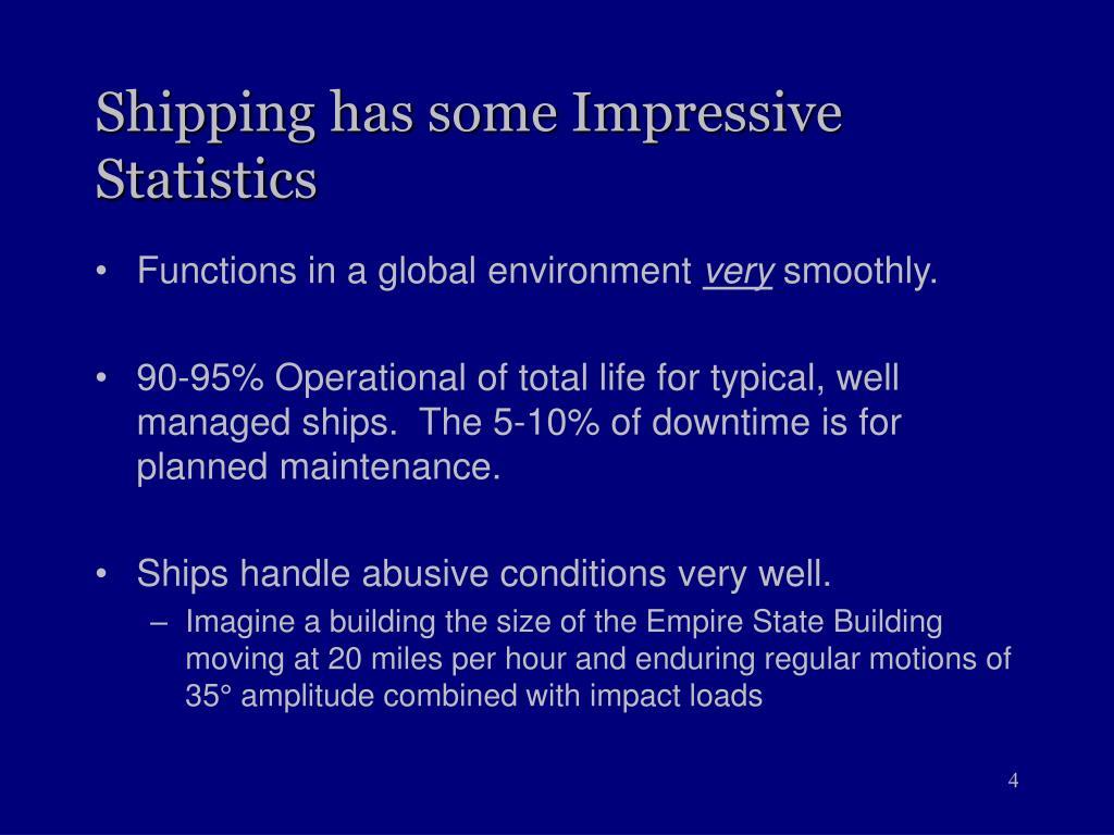 Shipping has some Impressive Statistics
