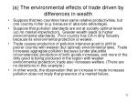 a the environmental effects of trade driven by differences in wealth
